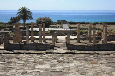 Basílica of Baelo Claudia near Bolonia Beach in Cádiz