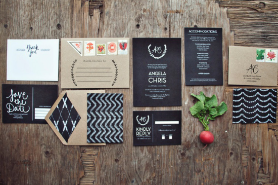 Wedding chalkboards invitations