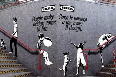 banksy ikea street-marketing guerilla marketing