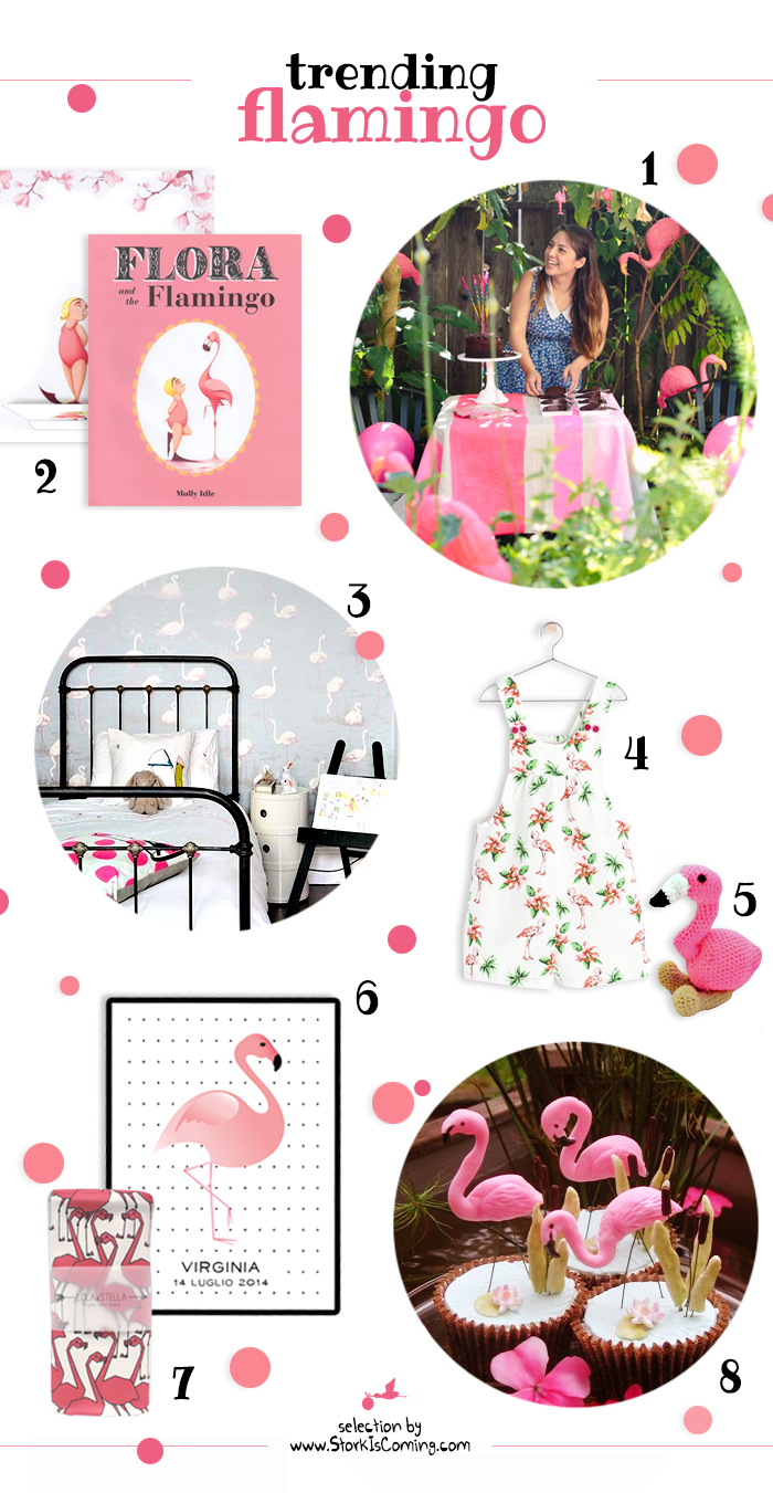flamingo trend for babies and kids