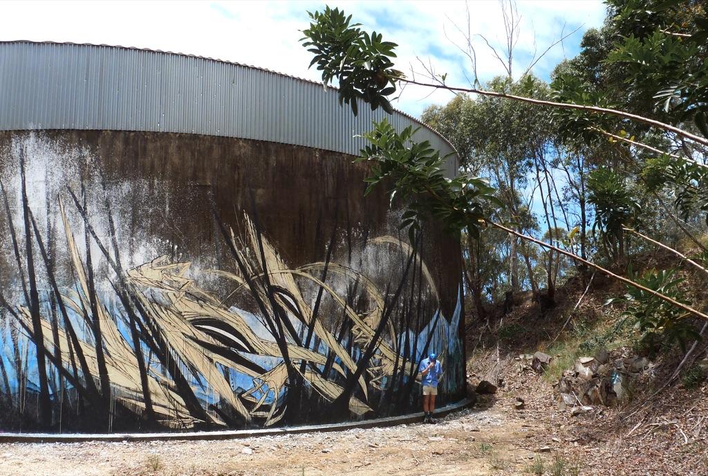 Shida new mural in gold coast australia streetartnews for Australian mural