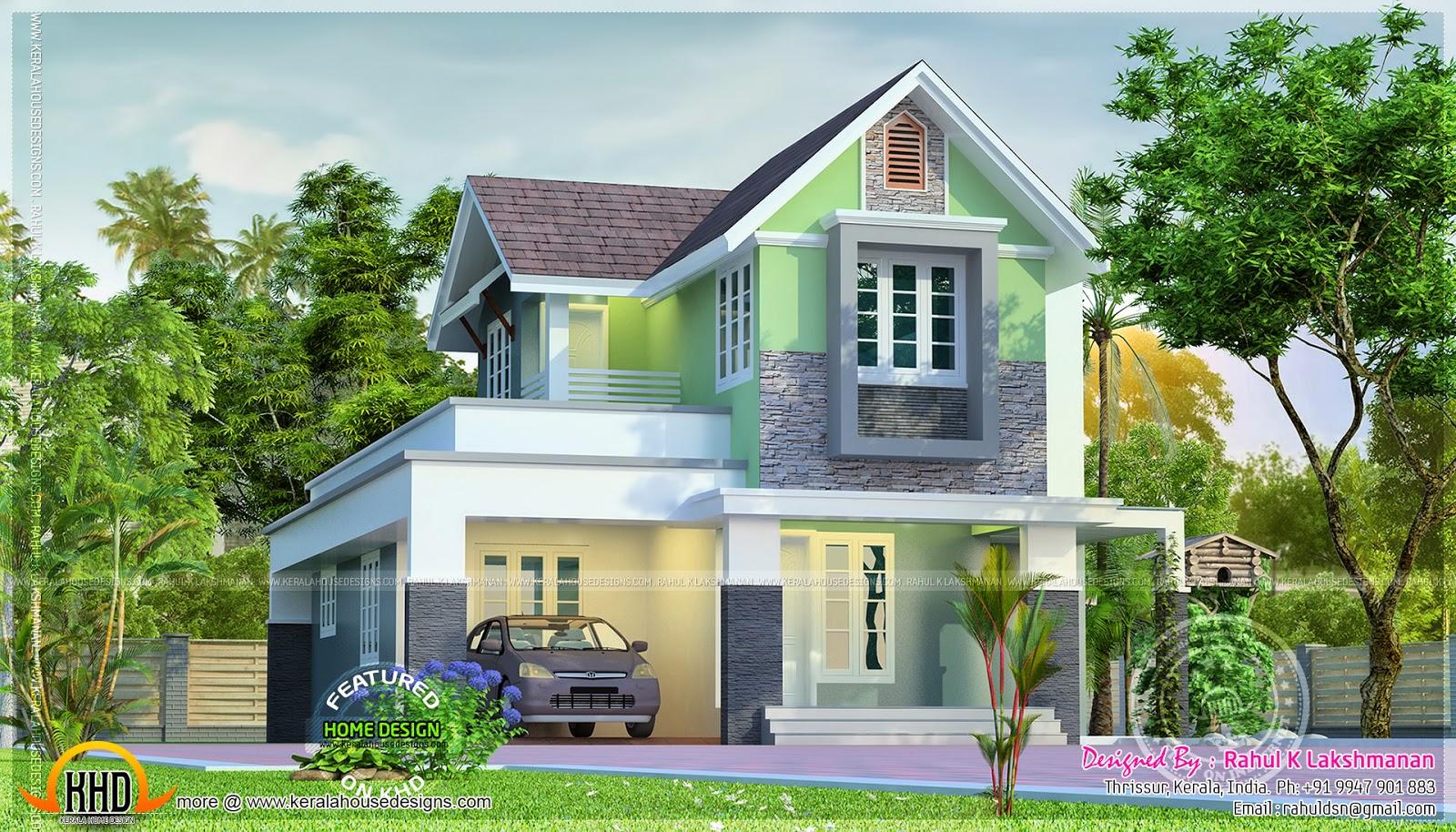 Cute Little House Plan Home Kerala Plans