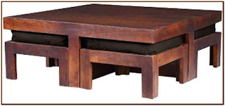 coffee table with stools underneath india