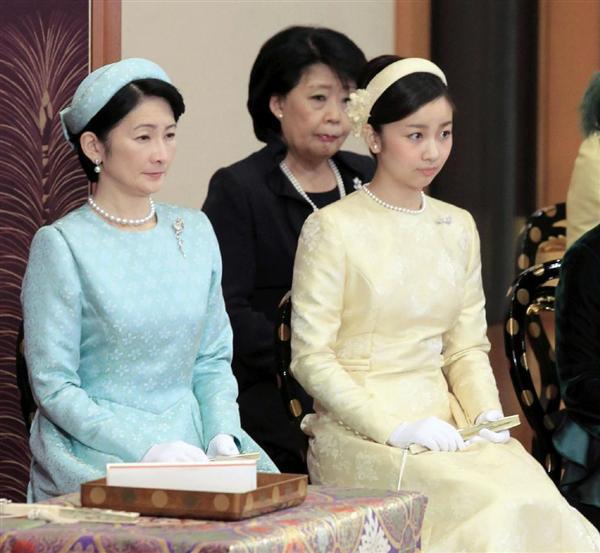 Crown Prince Naruhito, Prince Akishino, Princess Kako of Akishino, Princess Hanako of Hitachi, Princess Nobuko of Mikasa