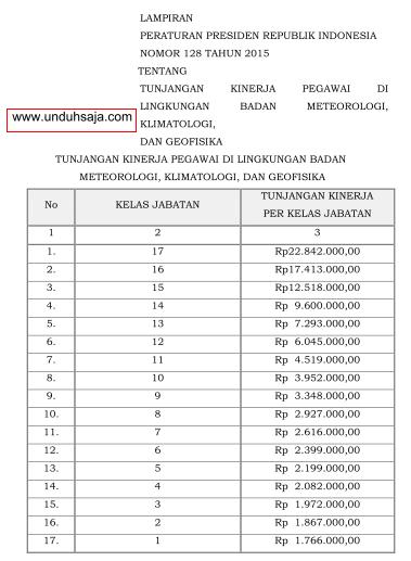 tabel tukin/remunerasi bmkg 2015