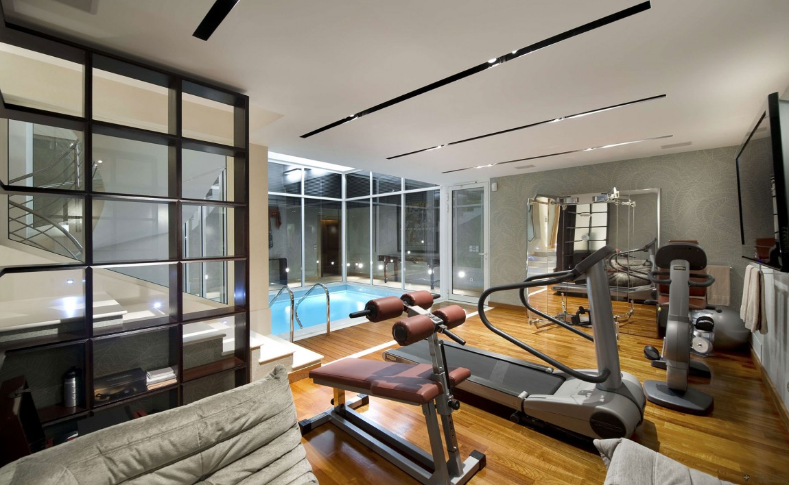 World of architecture beautiful mediterranean modern for Home gym room