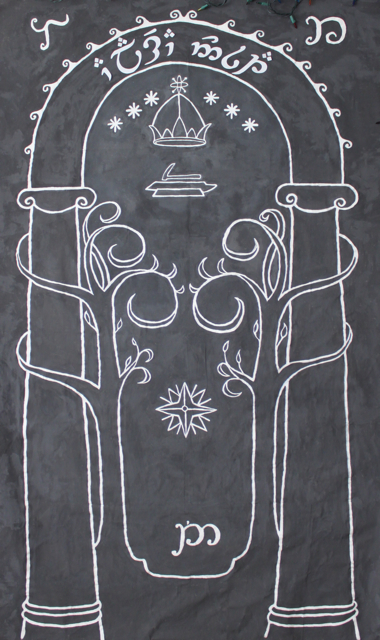 Peter Jackson\u0027s LOTR trilogy of movies came out when I was in college and for the three years that Elaine and I shared a dorm room our walls were ...  sc 1 st  Cation Designs & Cation Designs: The Doors of Durin Lord of Moria