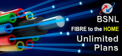 BSNL Fibre to the Home Unlimited Broadband Internet Plans