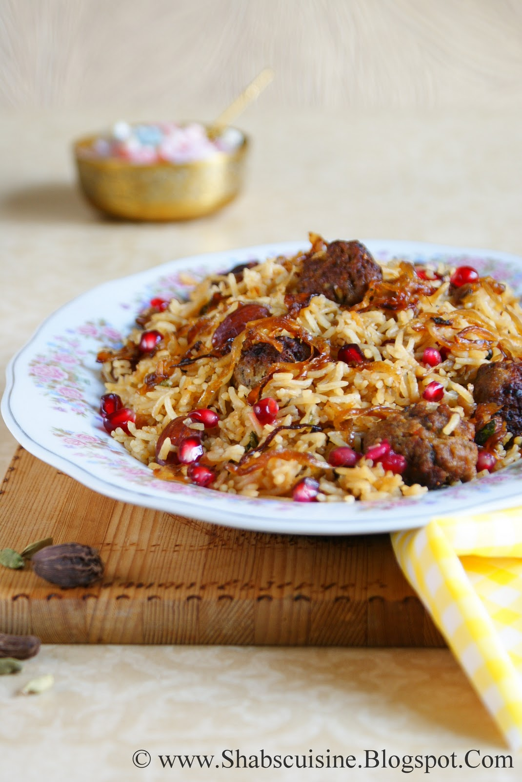 Shab's Cuisine: Kofta Pulao