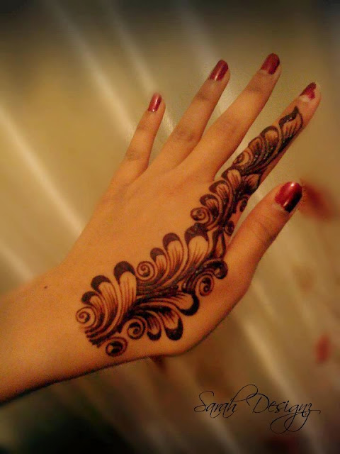 Mehndi For Only Fingers : Menhdi designs  for hands top mehndi