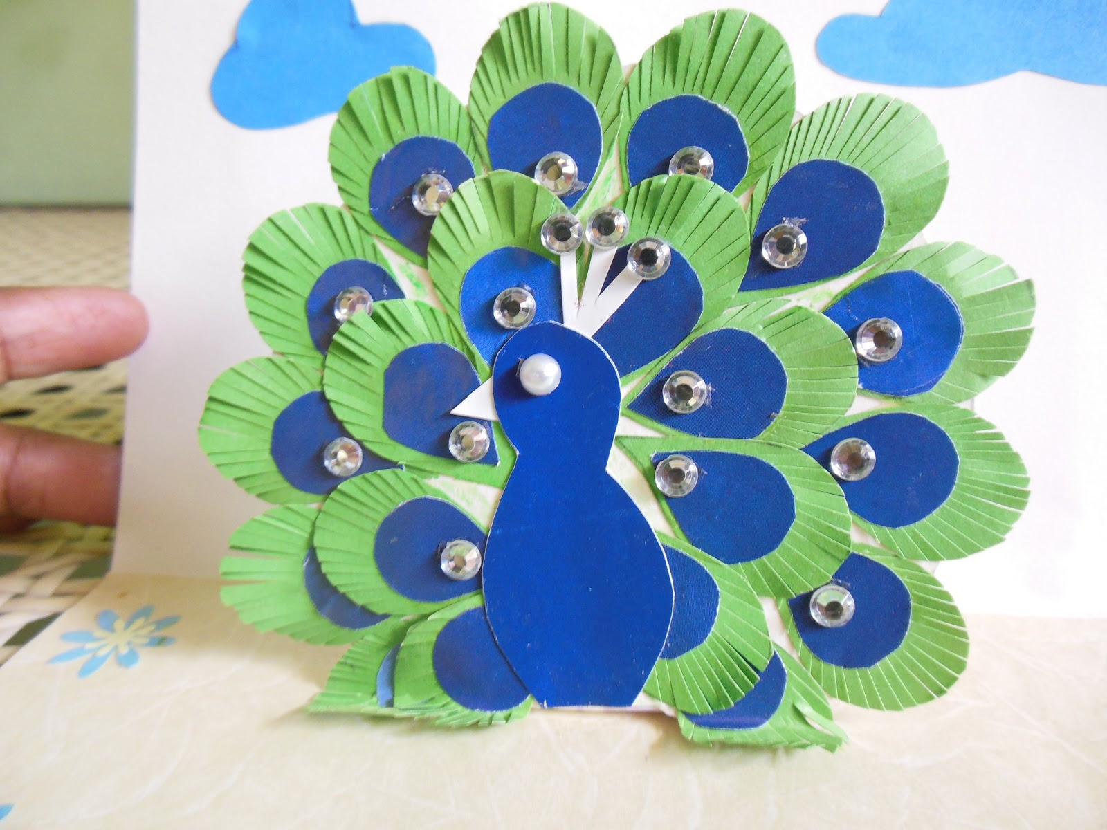 colors of my crafty world peacock card