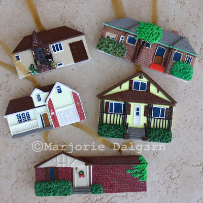 Polymer Clay House Ornaments