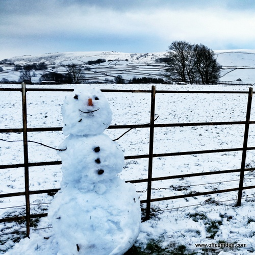 Snowman Yorkshire Dales