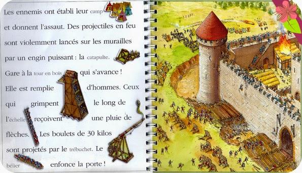 """Mes premières découvertes """"Un livre-rébus pour découvrir le château fort et lire les mots et les images"""" de Dominique Joly, Claude et Denise Millet"""