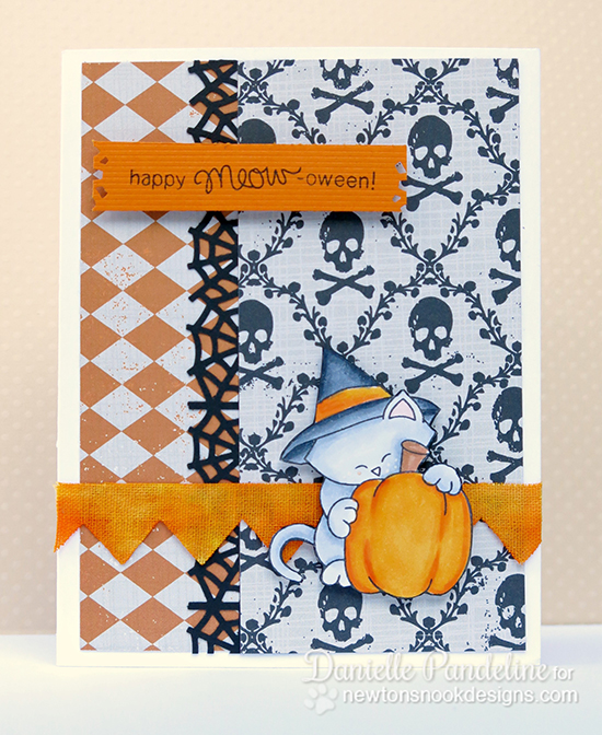 Cat Halloween Card by Danielle Pandeline for Newton's Nook Designs | Newton's Perfect Pumpkin Stamp Set