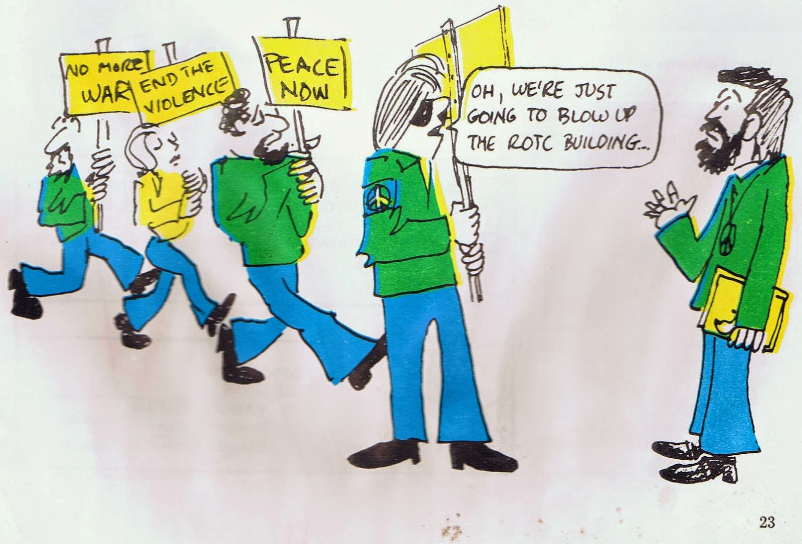 Yahoo ROTC Cartoon, 1971