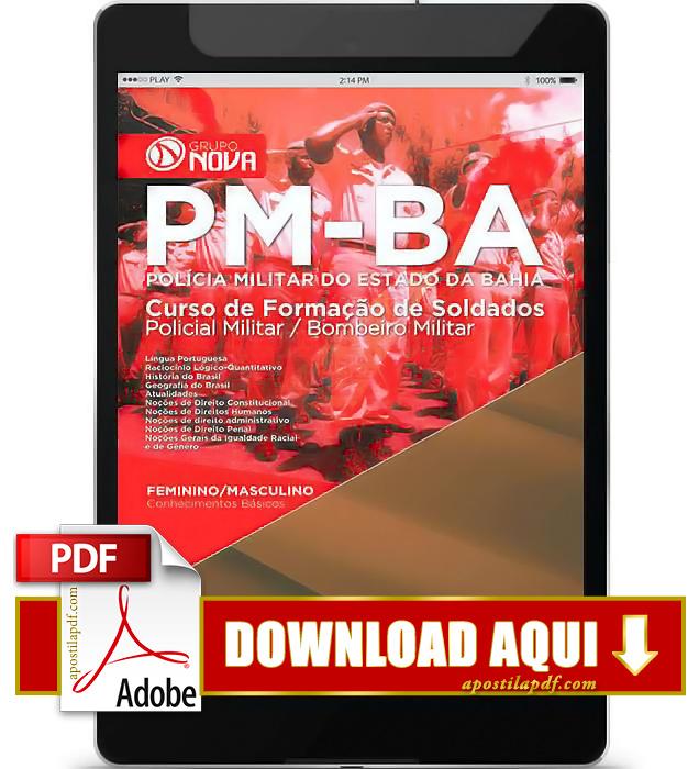 Apostila PM BA 2015 Soldado PDF Download