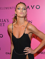 Candice Swanepoel sends a kiss to cameras and fans
