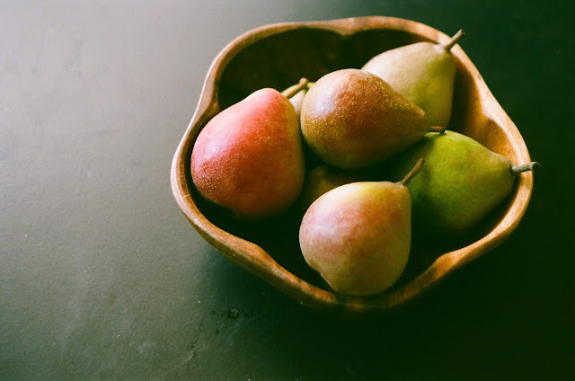 Seckel Pears in a bowl