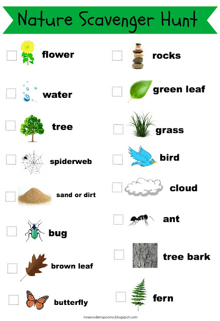 Printable Nature Scavenger Hunt List