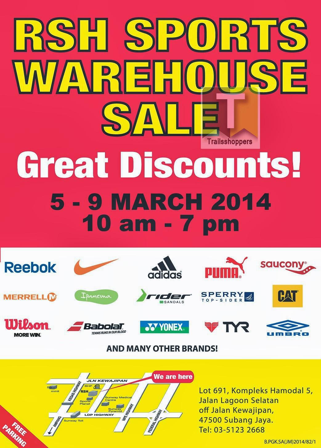 RSH Sports Warehouse Sale Selangor Sunway Pyramid University