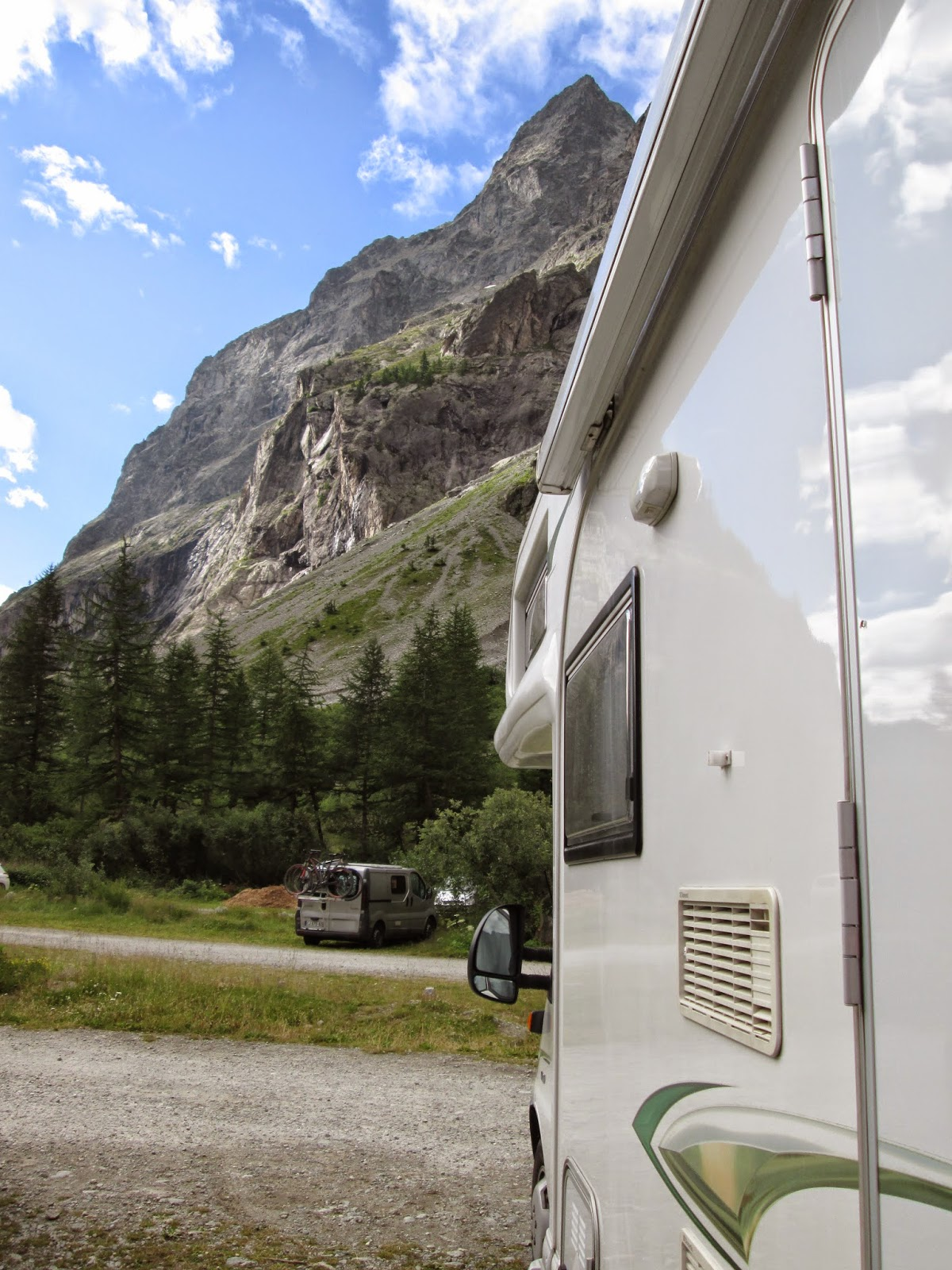 Motorhome in Ecrins National Park, France, Alps