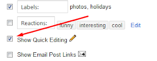 How to Hide Quick Edit Wrench & Pencil Icon in Blogger?