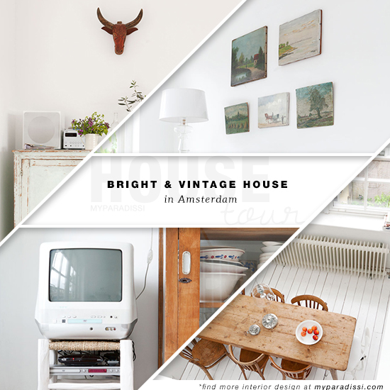 A bright and eclectic home in Amsterdam with vintage collections. Styling by French Uyterlinde and photography by Jansje Klazinga via Vtwonen.