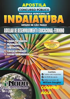 Apostila para o concurso Prefeitura de Indaiatuba 2015.