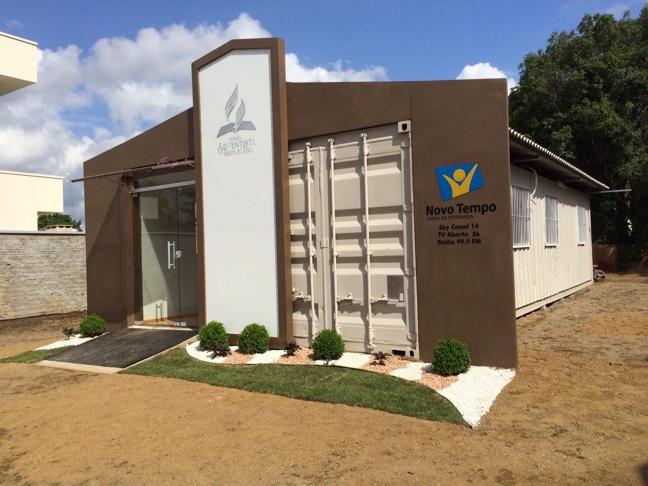 MEGAPHONE ADV: Igreja Adventista construída com contêiner é  #365895 1280x960 Banheiro Container A Venda