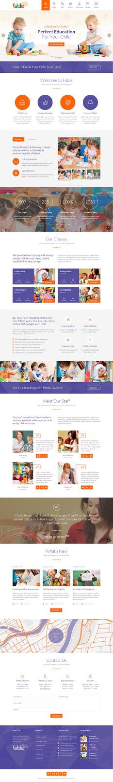 Premium Child Care Website Theme