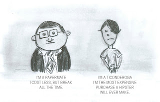 papermate and ticonderoga comic