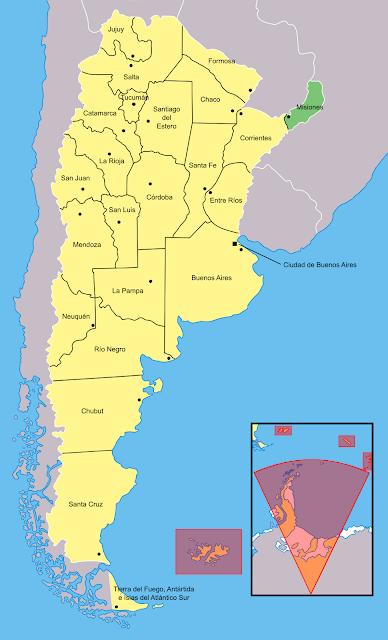 Mapa de localização da província de Misiones - Argentina