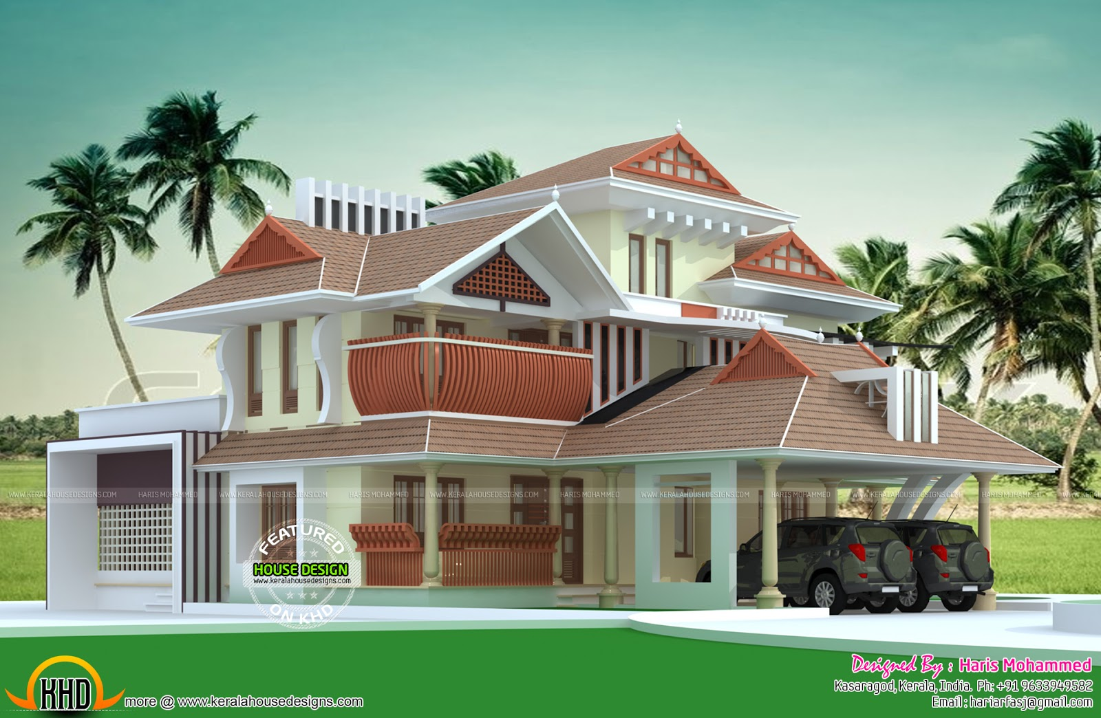 August 2015 kerala home design and floor plans for Home models in kerala