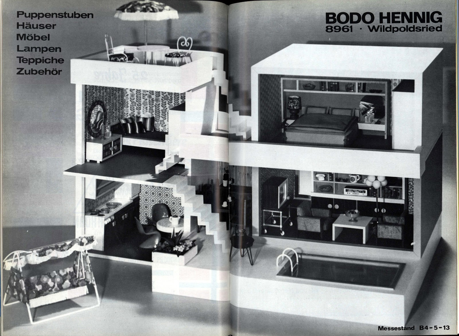 diepuppenstubensammlerin puppenhaus 1974 bodo hennig dolls house. Black Bedroom Furniture Sets. Home Design Ideas