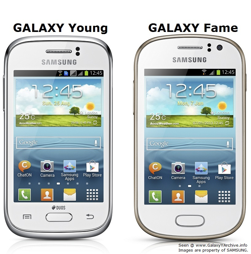 Samsung announces 2 new Galaxy models - GALAXY Young & GALAXY Fame