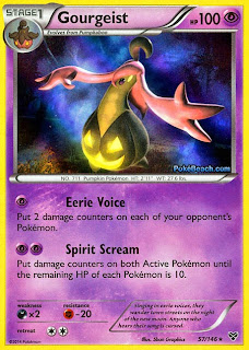 Gourgeist Pokemon X and Y Card