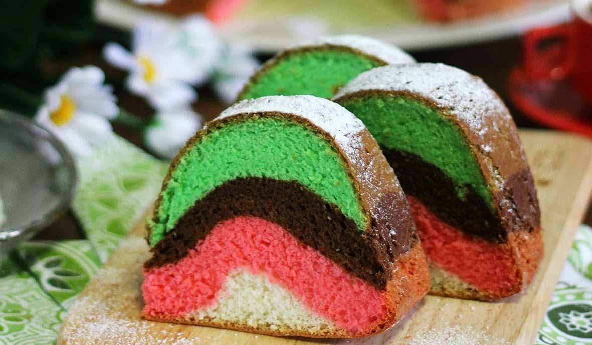 RAINBOW EGG WHITES CAKE