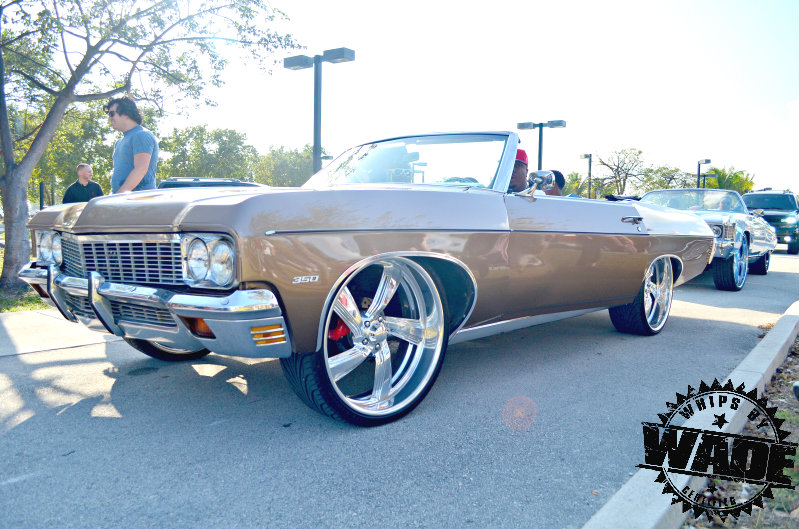 Whips by wade 1970 chevrolet impala convertible on 24 billet wheels sciox Images