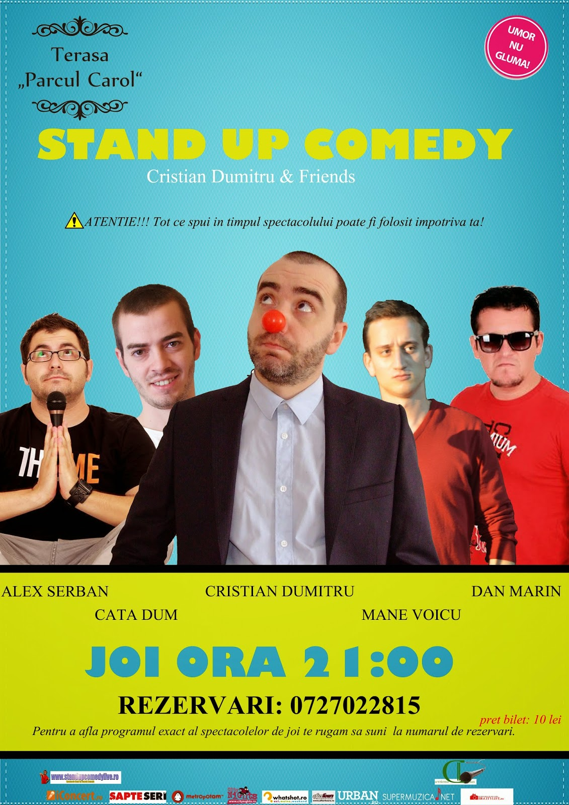 Stand-Up Comedy Joi 25 Septembrie