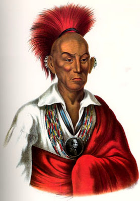 Sauk Chief Makataimeshekiakiah, or Black Hawk