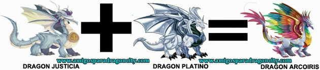 como sacar el dragon arcoiris en dragon city combinacion 2