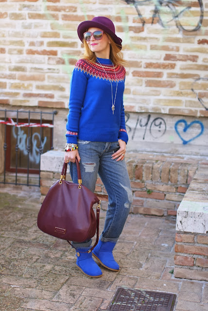 UGG Mini Bailey button, fair isle jumper, Ecua-Andino hat, Fashion and Cookies, fashion blogger