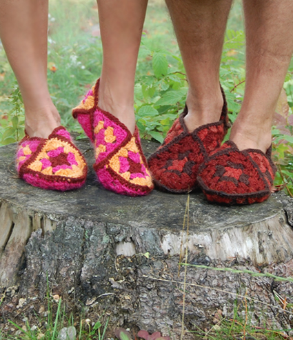Crochet Granny Square Slipper Pattern : Knot Your Nanas Crochet: 10. Great Granny Projects