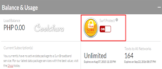 SunBroadband, Sun Broadband, Load Protect, Turn ON