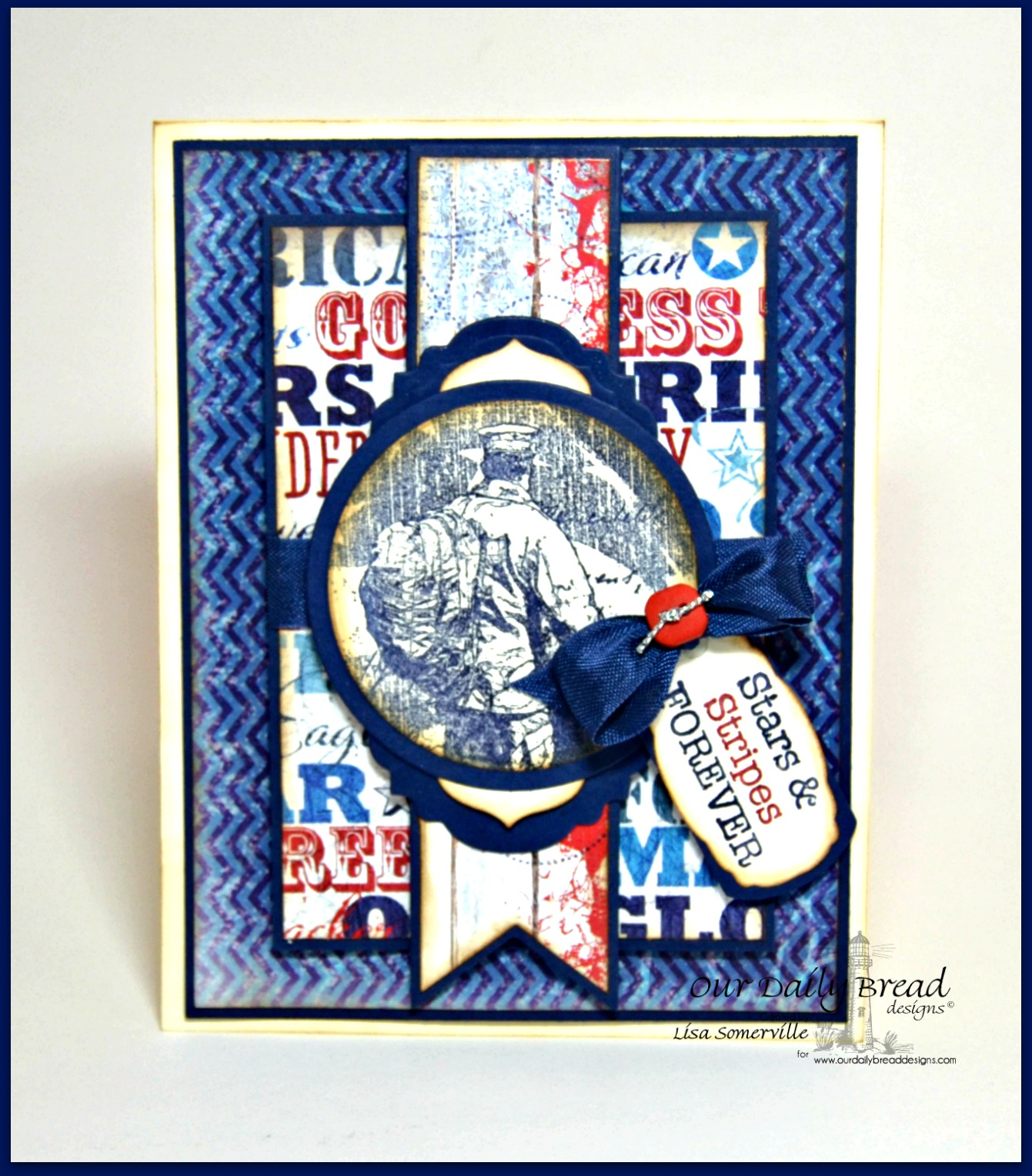 Stamps - Our Daily Bread Designs American Hero, Not Forgotten, ODBD Custom Vintage Labels Dies, ODBD Custom Antique Labels and Border Dies, ODBD Custom Pennants Die, ODBD Custom Mini Tags Dies, ODBD Patriotic Paper Collection