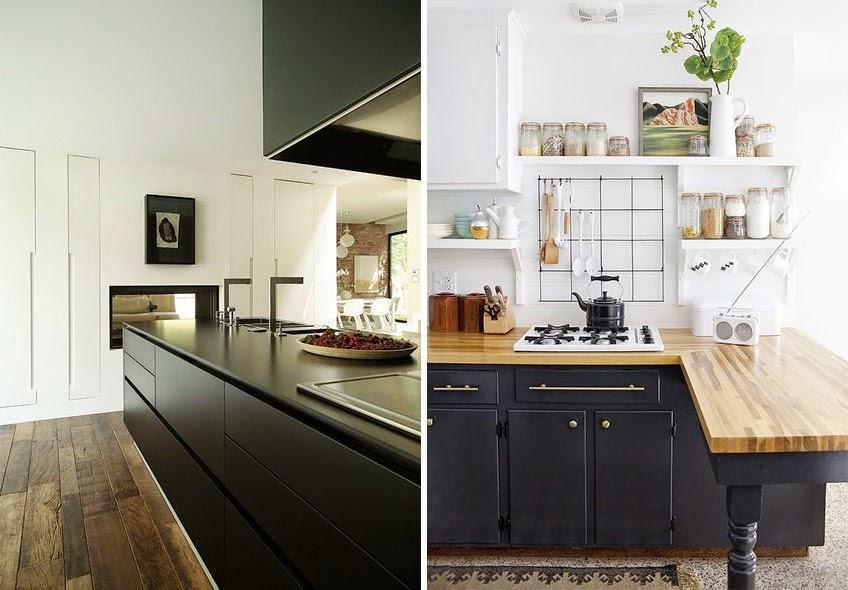 Cocina Negra Y Madera. Trendy With Cocina Negra Y Madera. Awesome ...