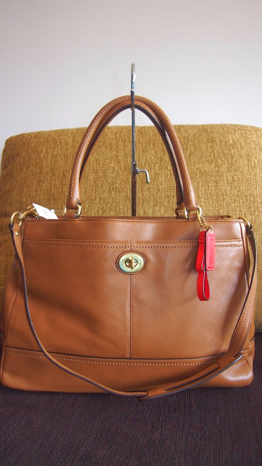 COACH PARK LEATHER LARGE CARRYALL 23268