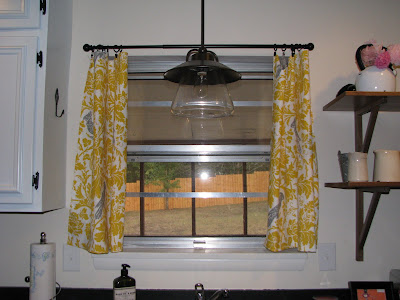 Yellow Floral & Gray Parrot Curtains {rainonatinroof.com} #curtains #yellow #drapes #windowtreatments #parrot