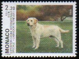 1992年モナコ公国 ラブラドール・レトリーバーの切手